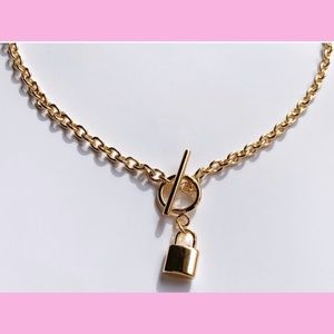 Jewelry - 18KGF toggle lock choker